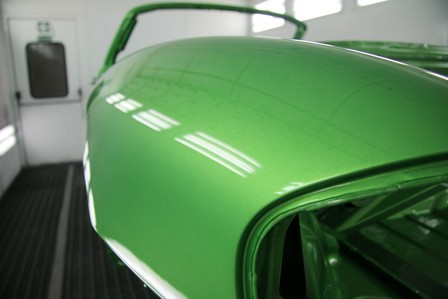 Porsche 986 Boxster S Viper Green Paintwork and Racing Livery Application
